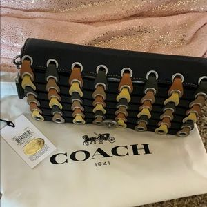 NWT Coach 1941 Chain Link Leather Dinky